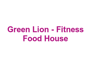Green Lion - Fitness Food House Logo
