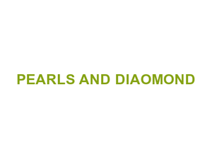 PEARLS AND DIAOMOND Logo
